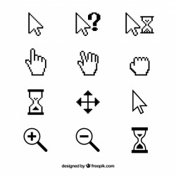 Black and white cursor collection