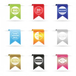 Bookmarks sales labels vector