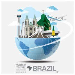 Brazil travel vector template