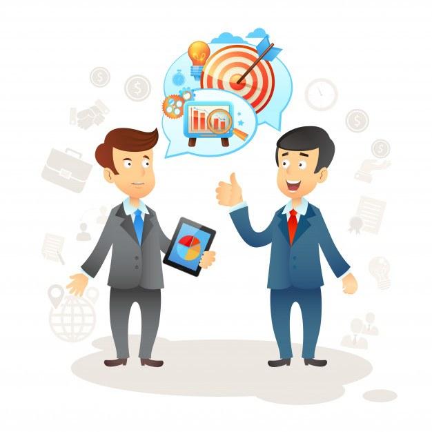 Businessman Social Chat