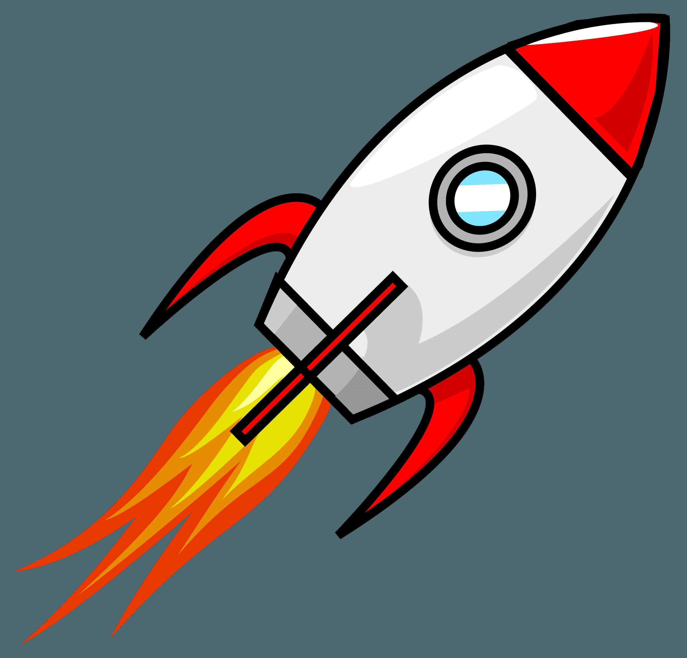 Cartoon Moon Rocket Remix 2 Icons PNG