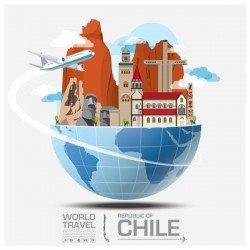 Chile travel vector template