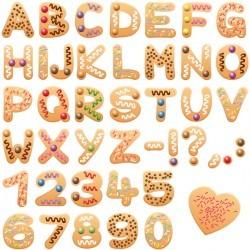 Christmas cookies alphabet letters font