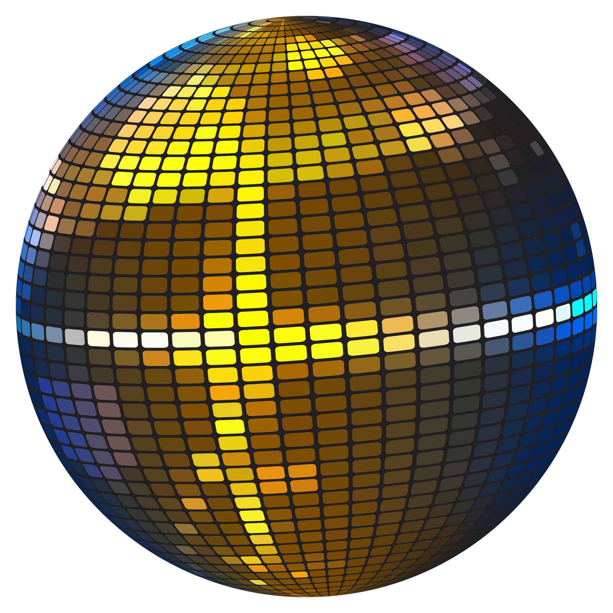 Colorful Disco Ball Icons PNG