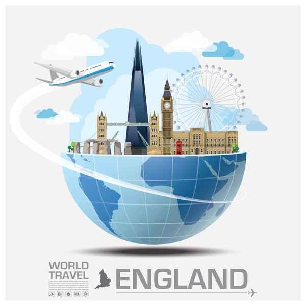 England travel vector