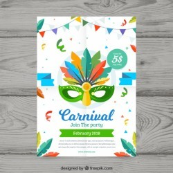 Flat carnival party flyer/poster template