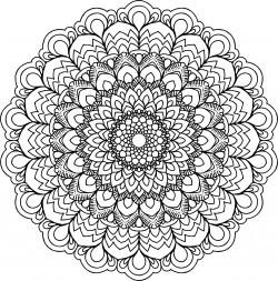 Floral Mandala IV Icons PNG