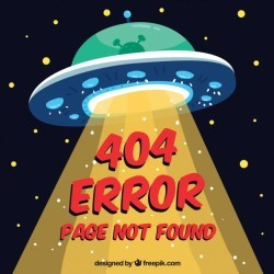 Hand drawn 404 error