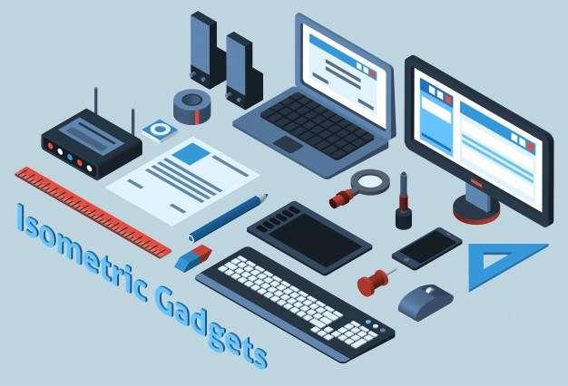 Isometric Gadgets Set