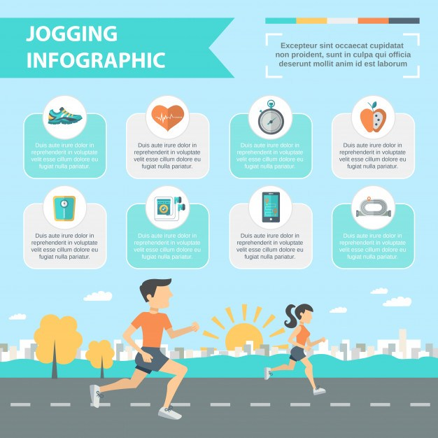 Jogging Infographics Set