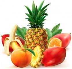 Juicy tropical fruit