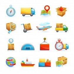 Logistic icons set
