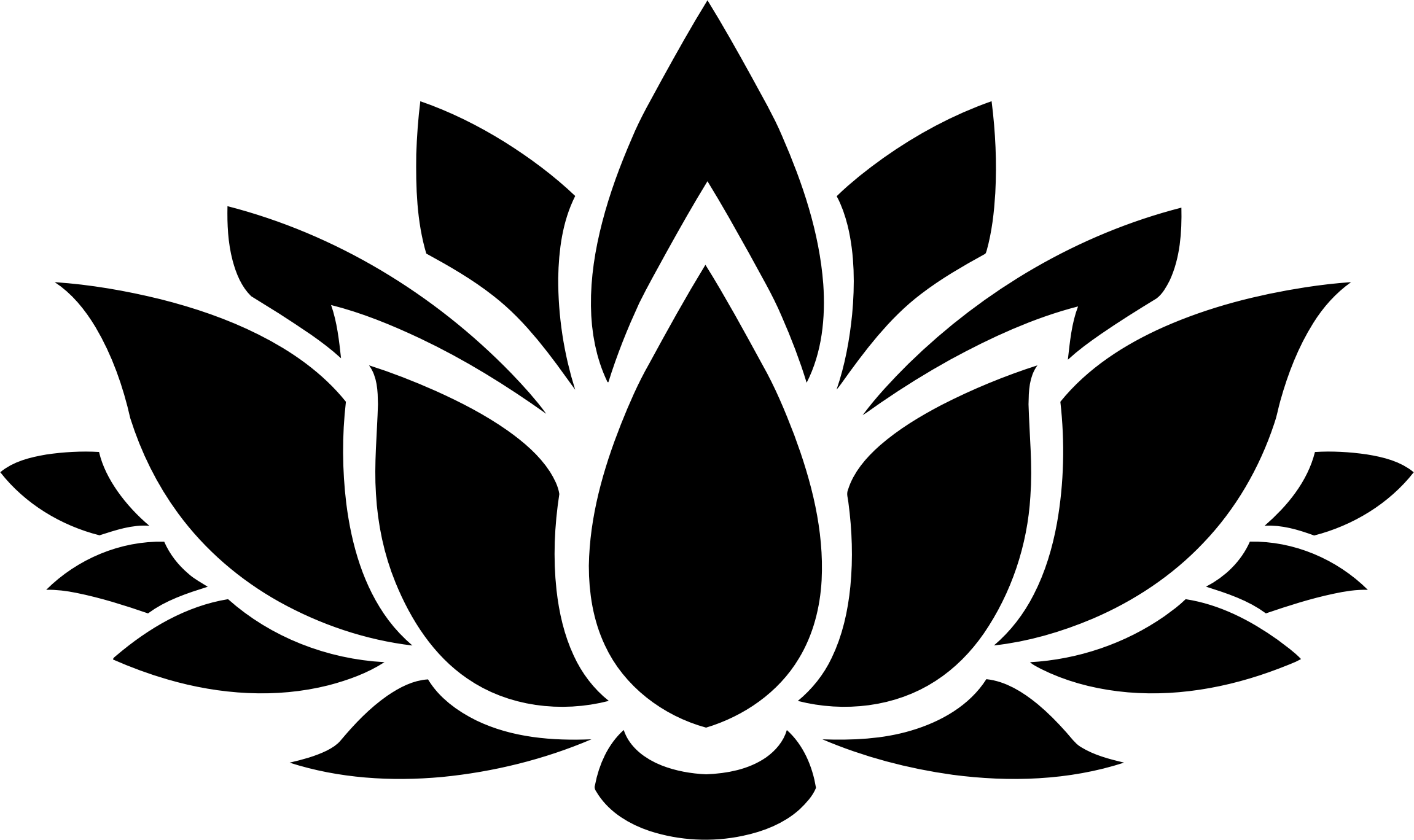 Lotus Flower Silhouette 6 Icons PNG