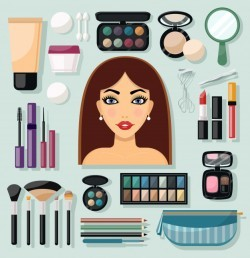 Make-up Icons Flat
