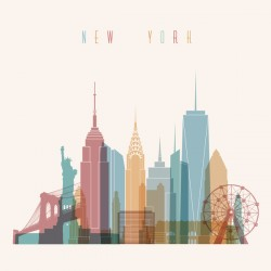 New york building vector illustration