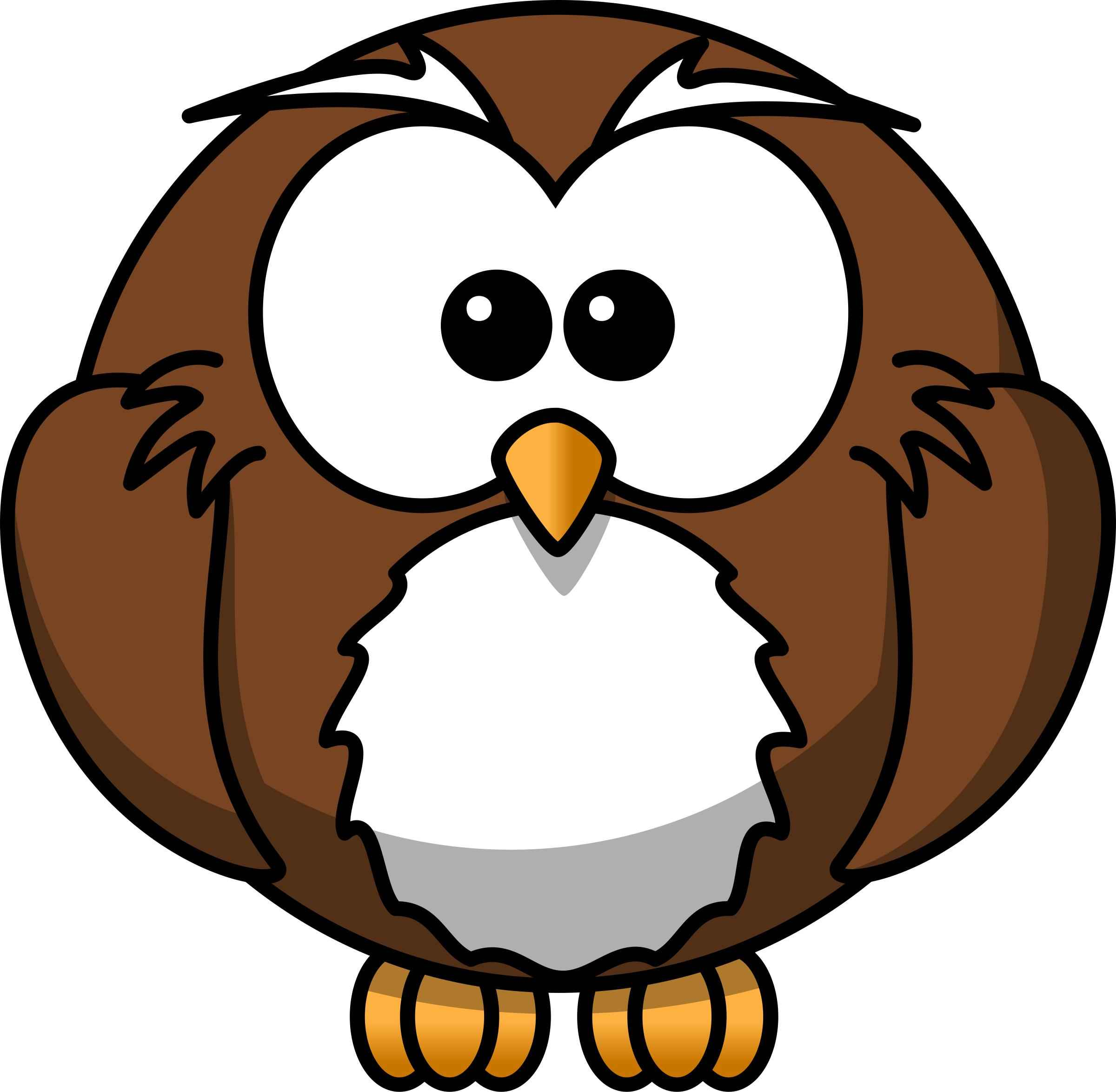 Owl Cartoon Icons PNG