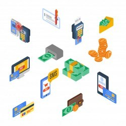 Payment Icons Isometric