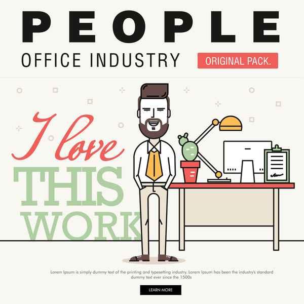 People office industry template vectors sert 09