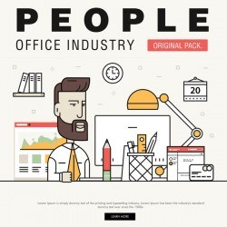 People office industry template vectors sert 10