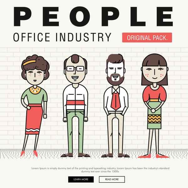 People office industry template vectors set 15