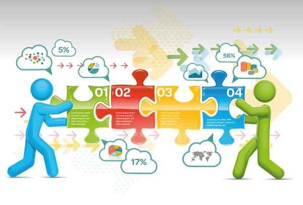 People with infographic creative vectors 06