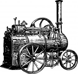 Portable steam engine Icons PNG
