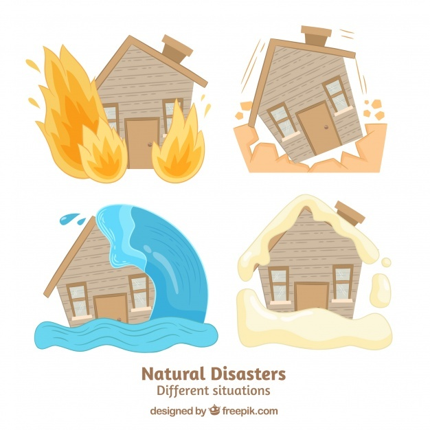 Set of natural disasters Vector | Free Download