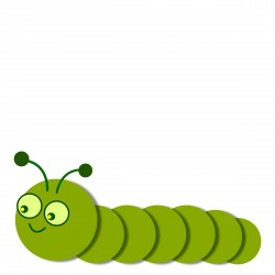 Smiling Caterpillar legless, linear Icons PNG