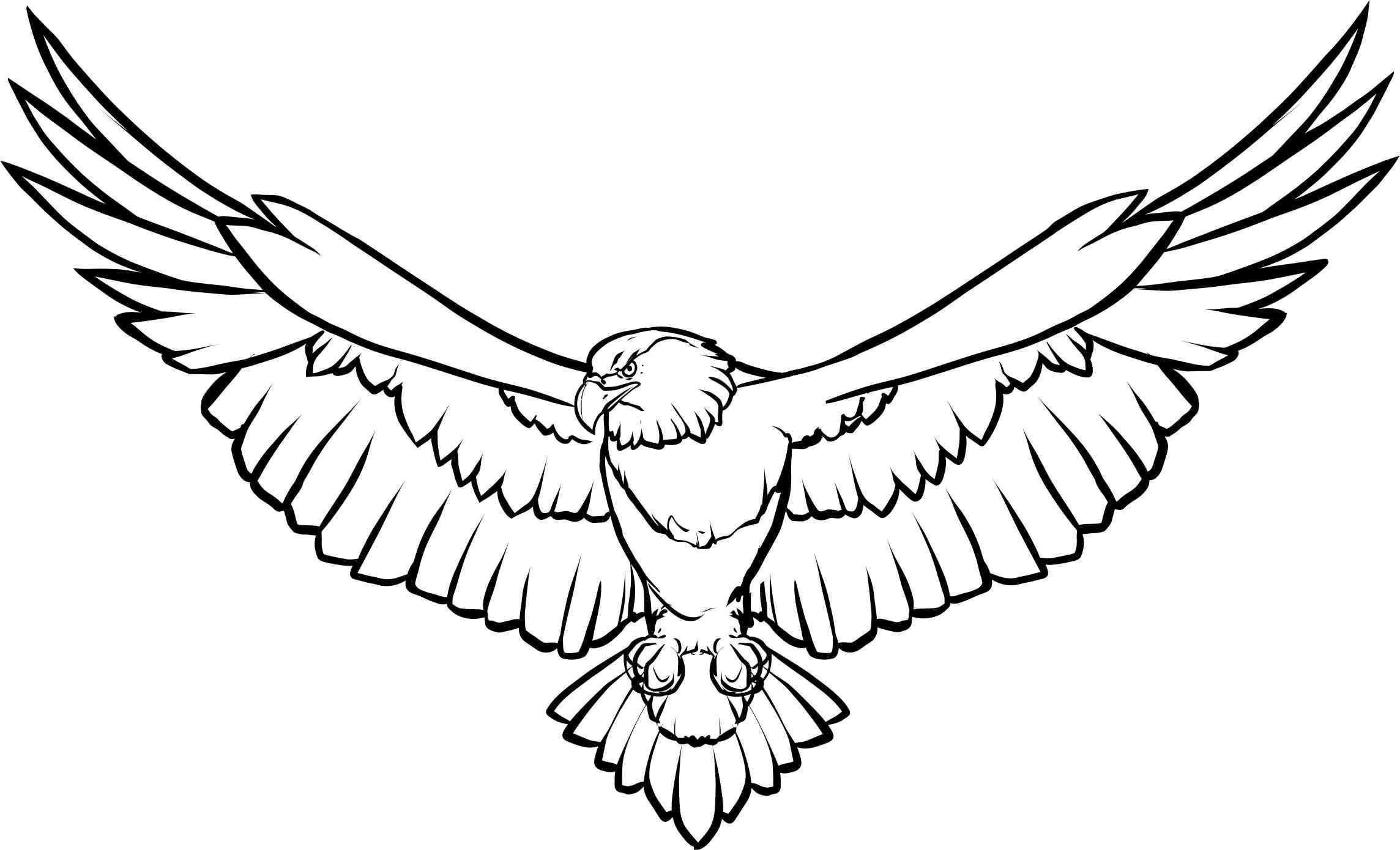 Soaring Eagle Line Art Icons PNG