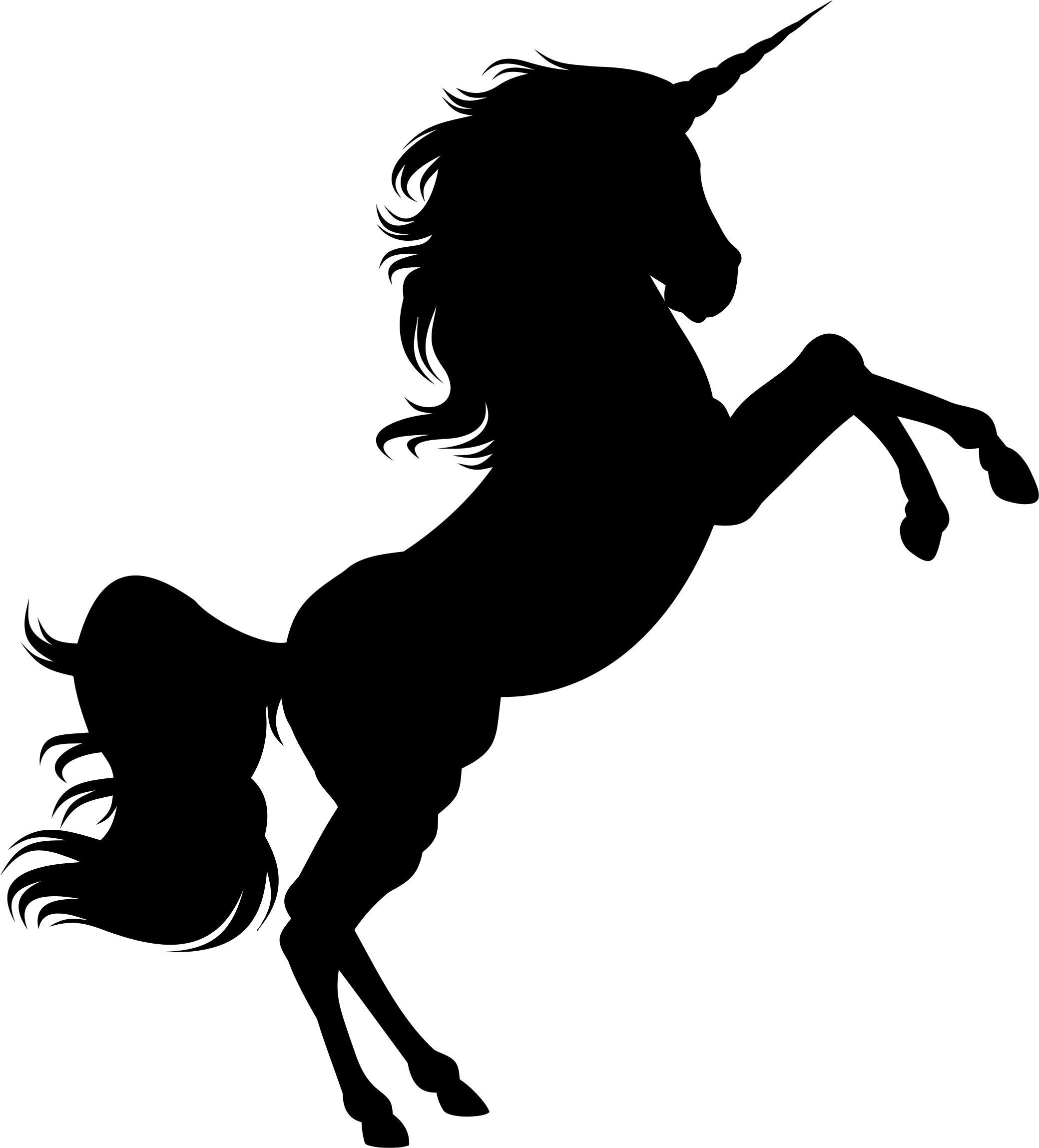 Unicorn Silhouette 2 Icons PNG
