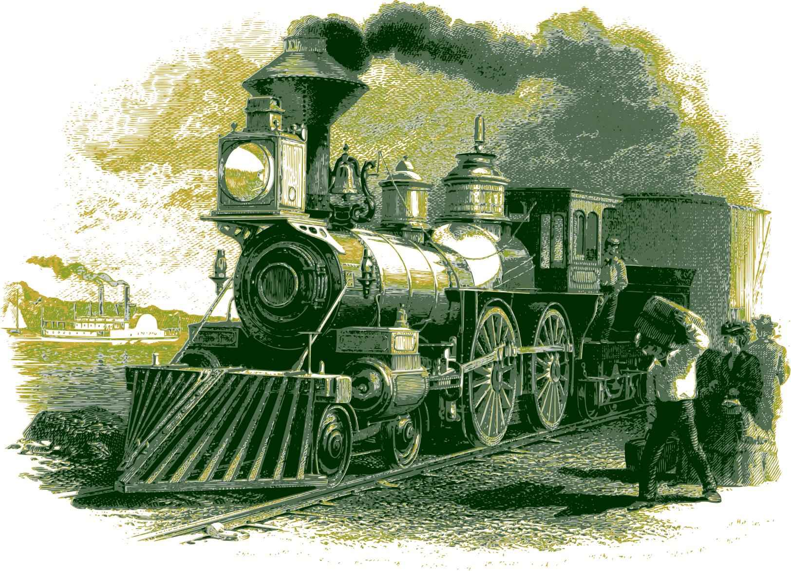 Vintage train 01 Icons PNG