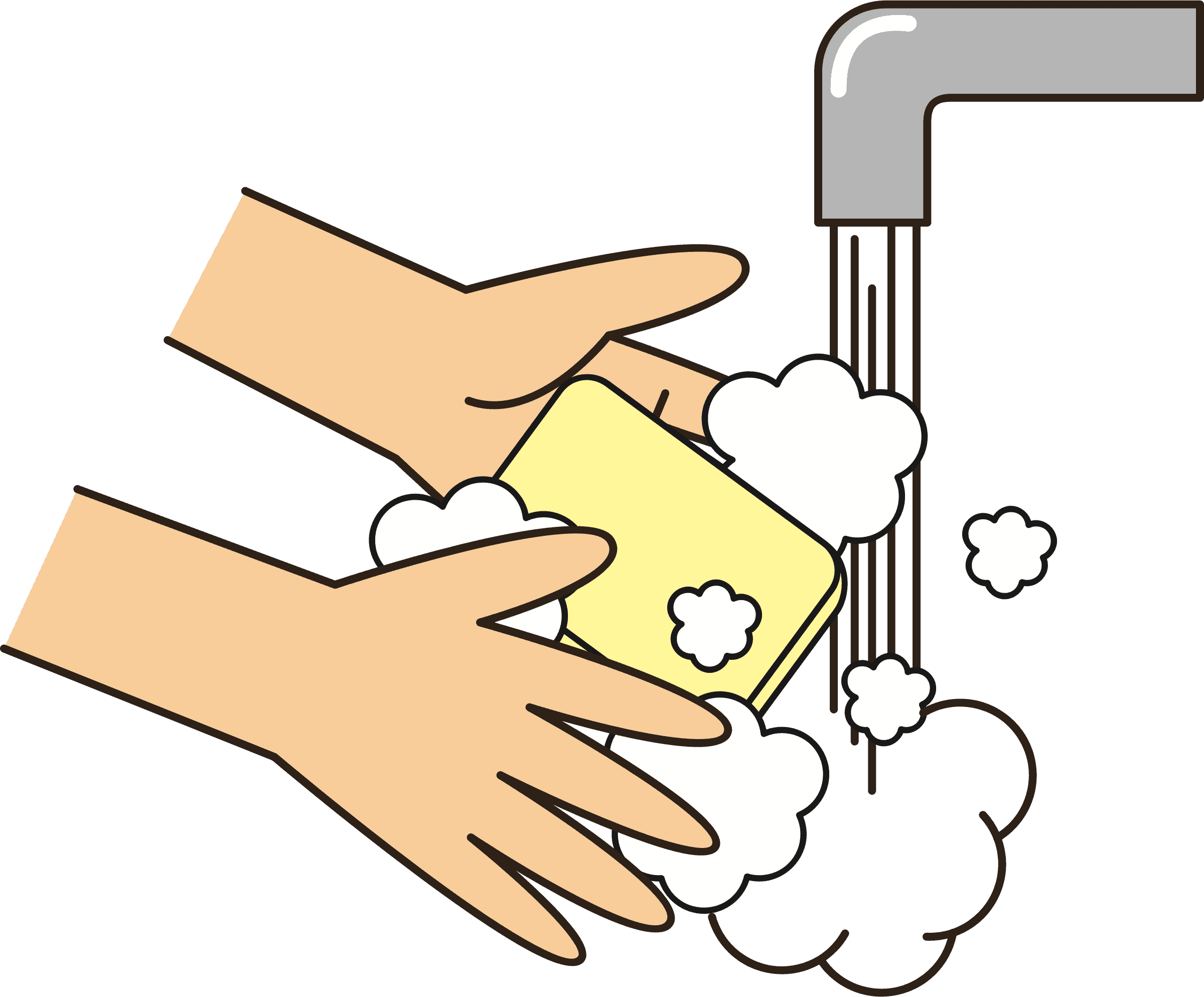 Wash your hands with soap Icons PNG