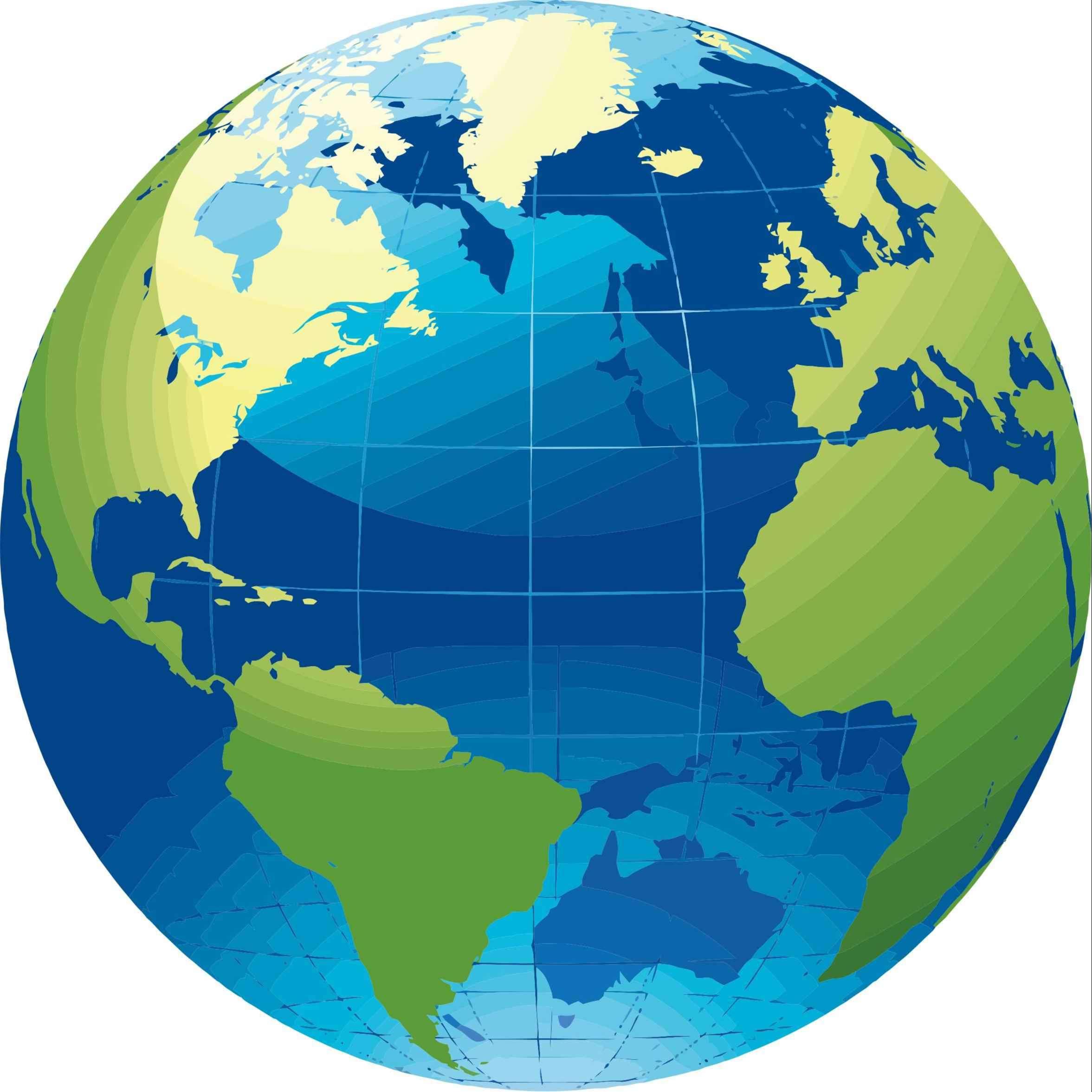 World Map Vivid Icons PNG