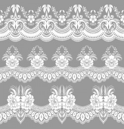 White lace seamless pattern vectors