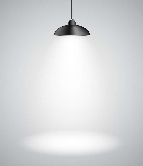 Lighting lamps effect vector background illustration 12