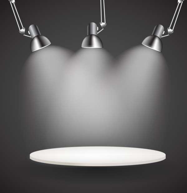 Lighting lamps effect vector background illustration 05