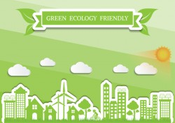 Green ecology friendly infographic design vector 06