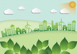 Green ecology friendly infographic design vector 05