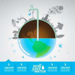 Start now save the water infographic vector 13