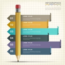 Vector education infographic template material 01
