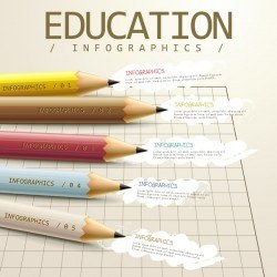 Vector education infographic template material 02