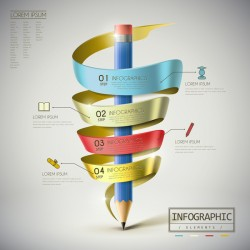 Vector education infographic template material 03