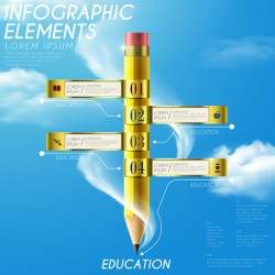 Vector education infographic template material 06