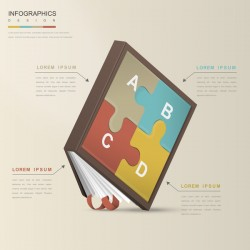 Vector education infographic template material 10