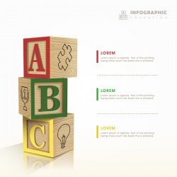 Vector education infographic template material 11