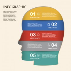 Vector education infographic template material 12