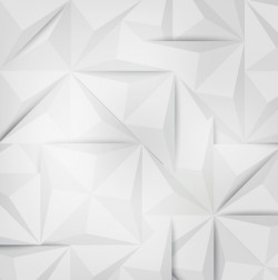 White geometric shapes backgrounds vector set 02