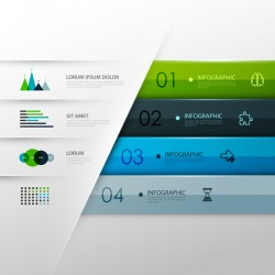 Vector infographic colored template material 07
