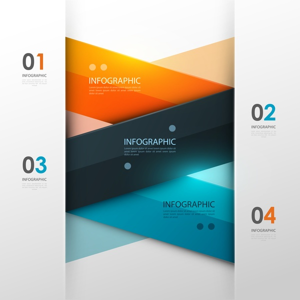 Vector infographic colored template material 12