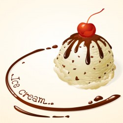 Delicious chocolate ice cream vector 03